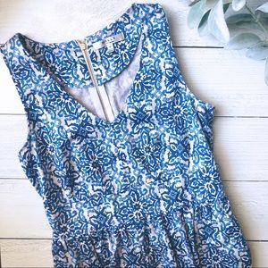 Milly Capri Italia Blue & White Dutch Tulip Dress